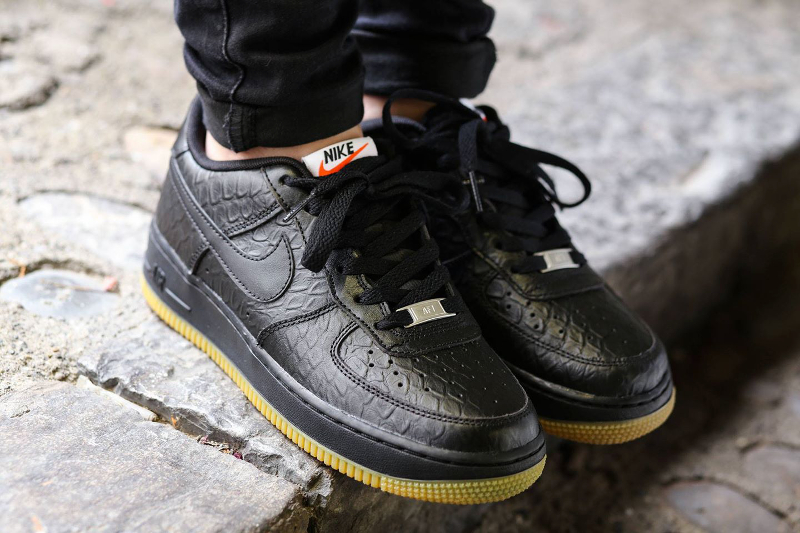 Nike Air Force 1 Low 'Croc' (Black