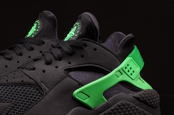 Nike Huarache Vert Noir