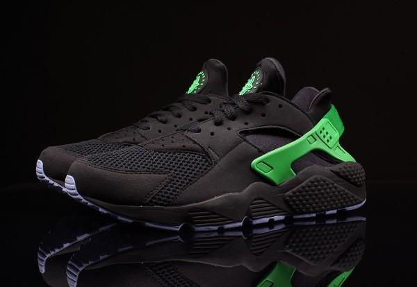 Nike Huarache Noir et vert