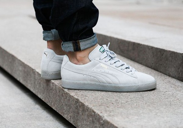 puma suede iced grise femme