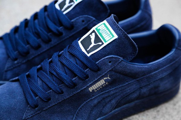photos officielles a7434 dffc9 puma suede mono iced blue