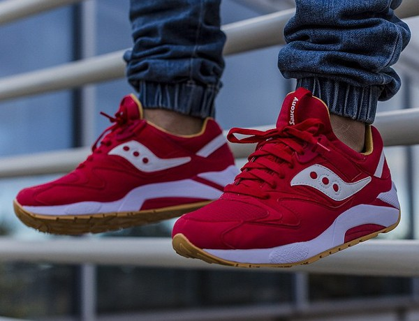 Saucony Grid 9000 'Red/Mustard' post image