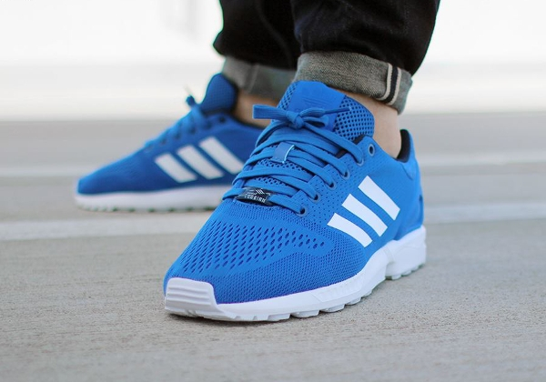 new concept 726f0 1e4c2 france adidas zx flux blue and white 6375b d9e09