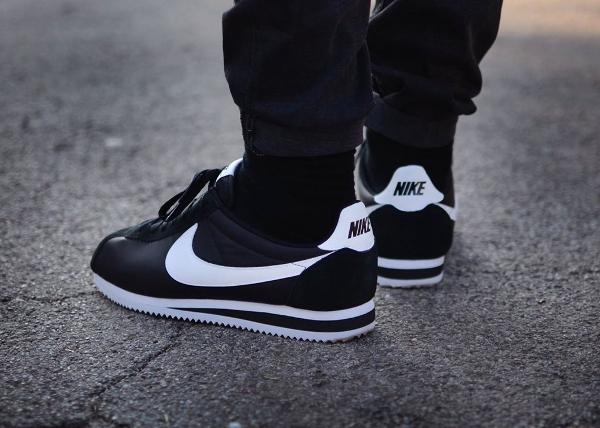 Nike Cortez Degrade Noir Et Blanc