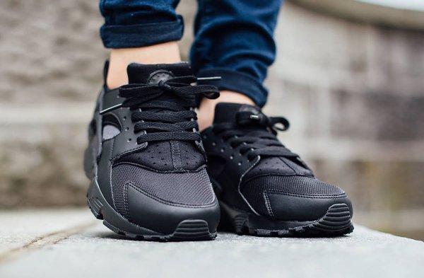 Femme Nike Air Huarache Noir/Gris