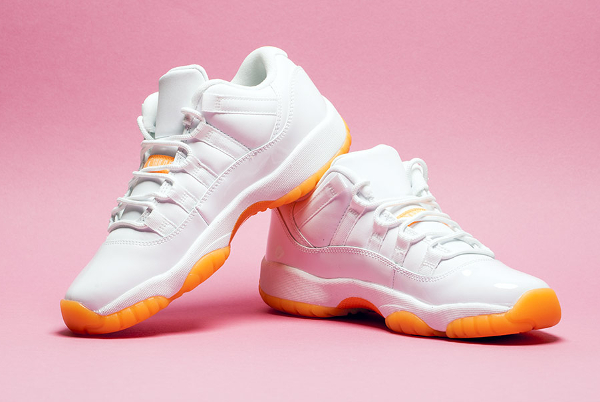 Air Jordan 11 Low GS White Citrus Retro 2015 (2)