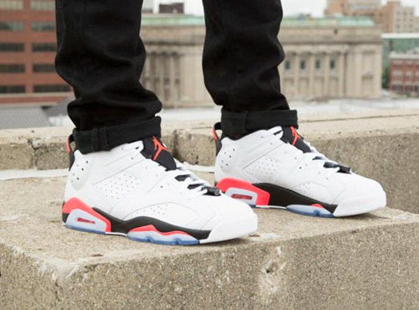 Air Jordan 6 Retro Low Infrared aux pieds (3)