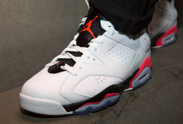 Air Jordan 6 Retro Low Infrared aux pieds (7)