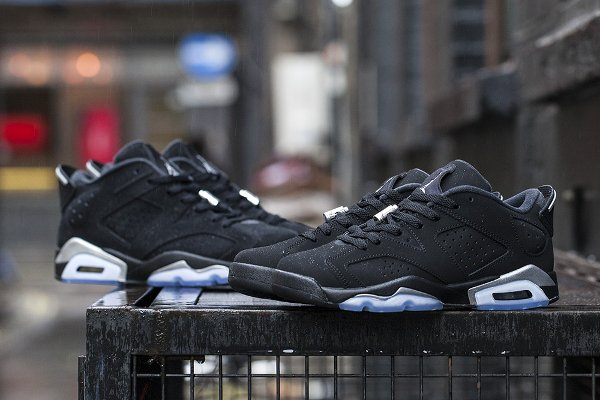 Air Jordan 6 Retro Low Black Metallic Silver  (5)