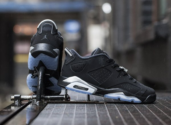 Air Jordan 6 Retro Low Black Metallic Silver  (6)