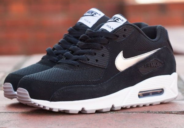 nike air max 90 essential black silver