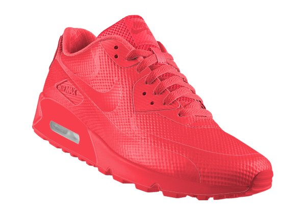 nike air max 90 hyperfuse id solar red sneakers actus. Black Bedroom Furniture Sets. Home Design Ideas