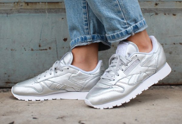 chaussure reebok x face stockholm classic leather spirit argent
