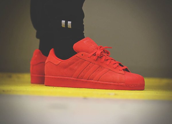 Adidas Superstar Suede Rouge