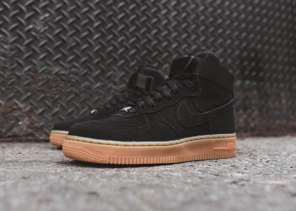 Nike Air Force 1 High Black Suede