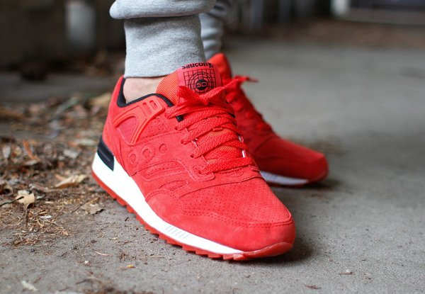 Saucony Grid SD Red Suede