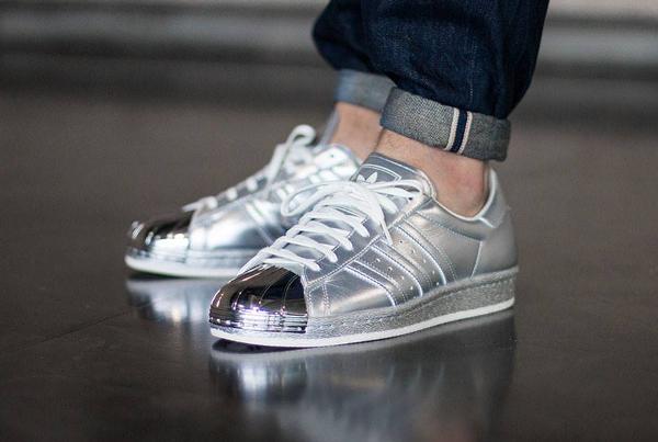 Adidas Superstar 80's Silver Metallic