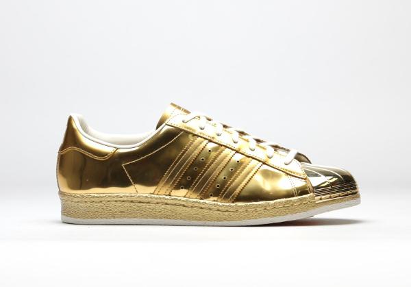 adidas superstars doré