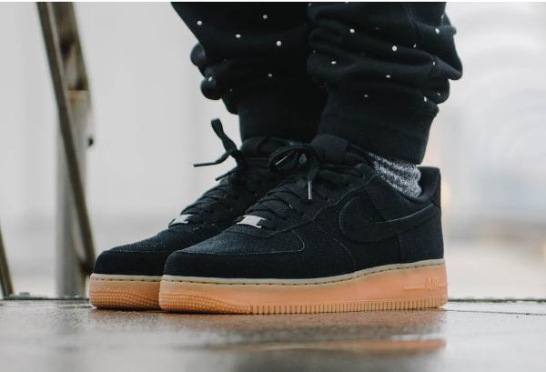 Nike Air Force 1 Low Black Suede