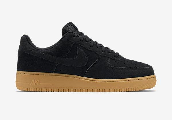 e1fec5571b1 ... Nike Air Force 1 basse noire semelle en gomme