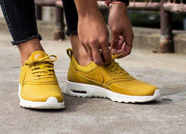 air max thea femme jaune