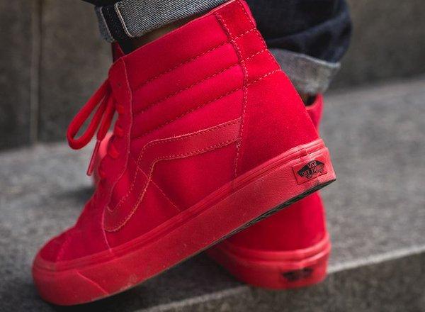 Vans Sk8 Hi Suede 'True Red'