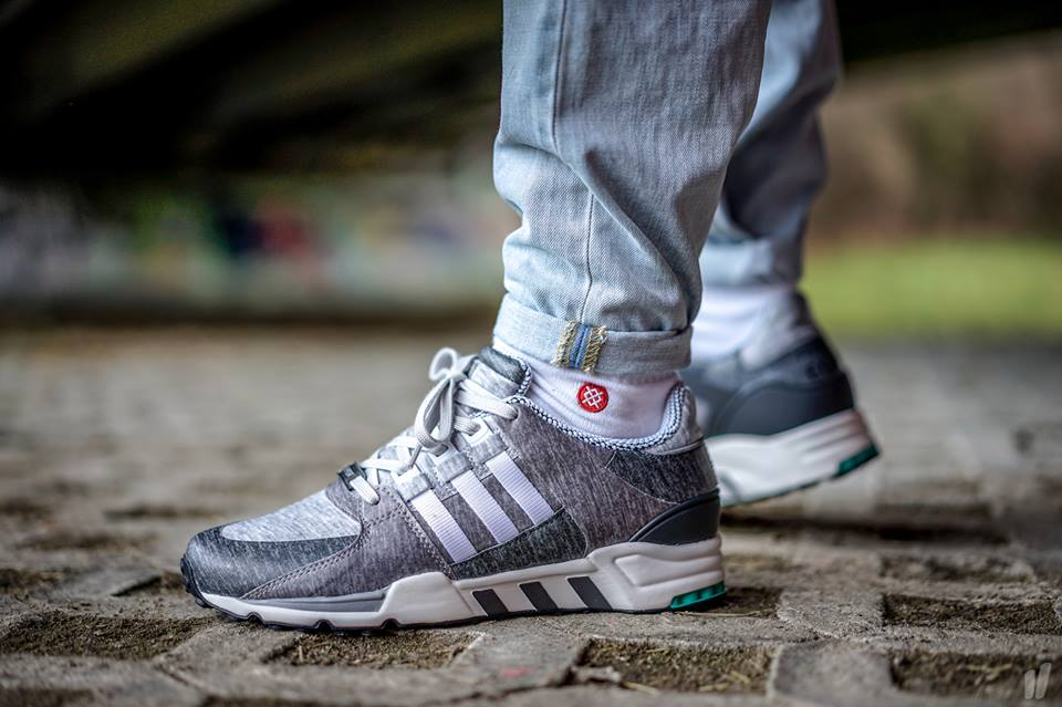 adidas eqt support 93 16 triple white nmd on feet