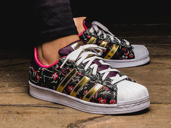 Adidas Superstar W Jacquard Floral Merlot