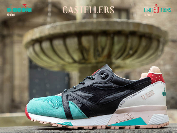 Diadora N9000 Black Atlantis Green (4)
