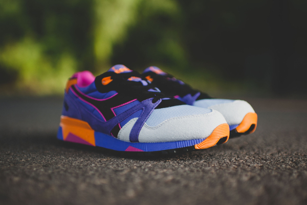 Diadora N9000 Violet Purple Orange (1)