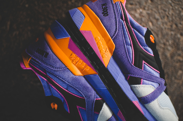 Diadora N9000 Violet Purple Orange (3)
