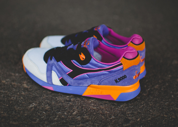 Diadora N9000 Violet Purple Orange (6)