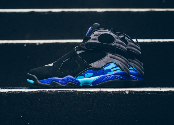 chaussures nike air jordan 8 retro Black Aqua (1)