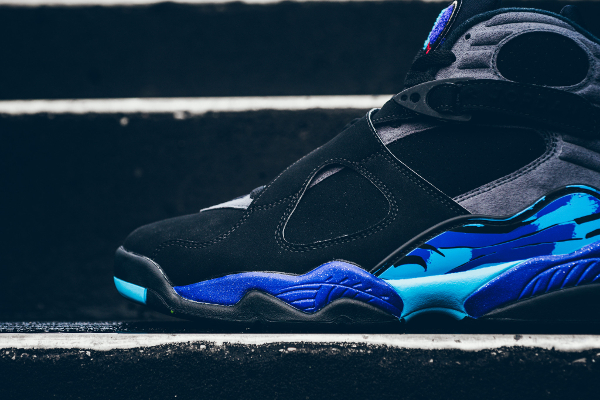 chaussures nike air jordan 8 retro Black Aqua (2)