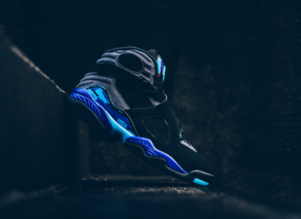 chaussures nike air jordan 8 retro Black Aqua (8)