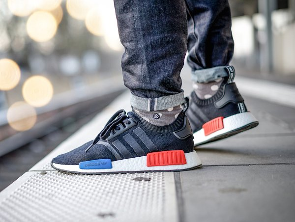 Adidas NMD Runner_1 Primeknit Core Black pas cher (2)