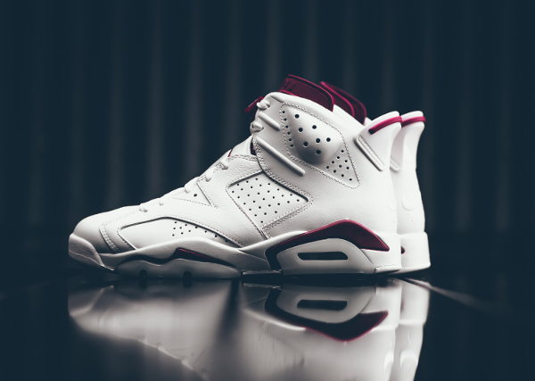 Basket Air Jordan 6 Off White New Maroon (3)