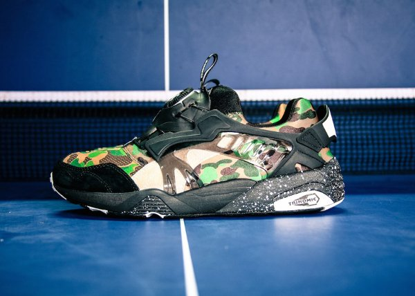 Puma Disc Blaze x A Bathing Ape Camouflage Curds Whey (2)