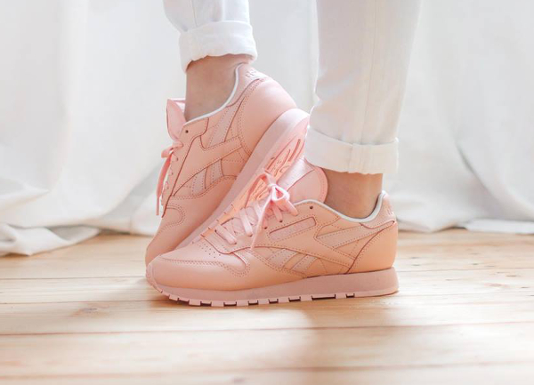 Reebok Baskets CL LEATHER Roses