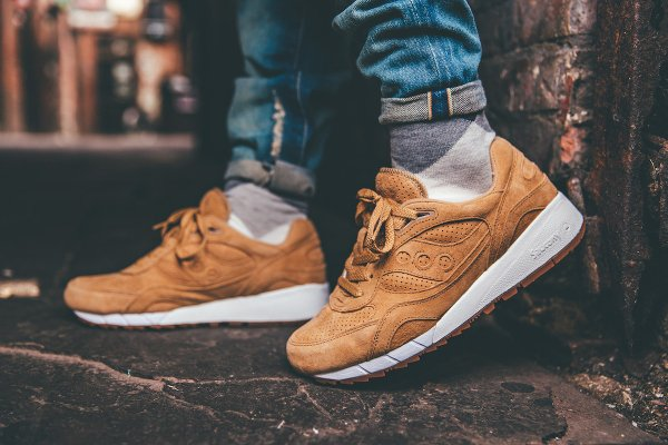 Saucony Shadow 6000 Suede Irish Coffee Whiskey Gum (2)