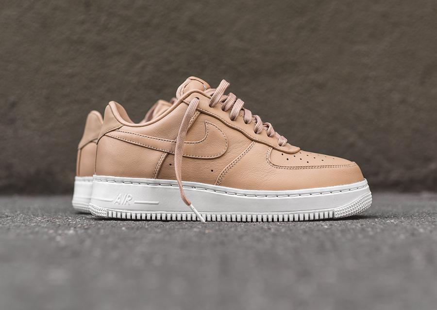 chaussure-nike-air-force-1-basse-cuir-premium-beige-2