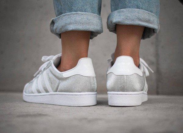 acheter Adidas Superstar W Glitter Metallic Silver pas cher (3)