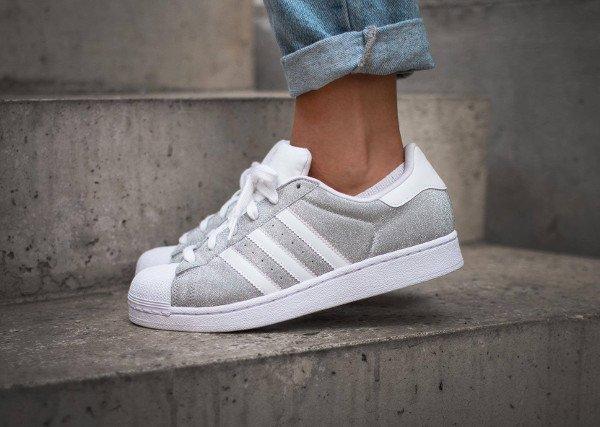 acheter Adidas Superstar W Glitter Metallic Silver pas cher (4)
