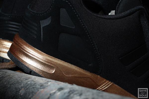 adidas zx flux noir et or