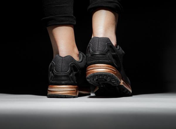 adidas originals zx flux 'black/light copper metallic'