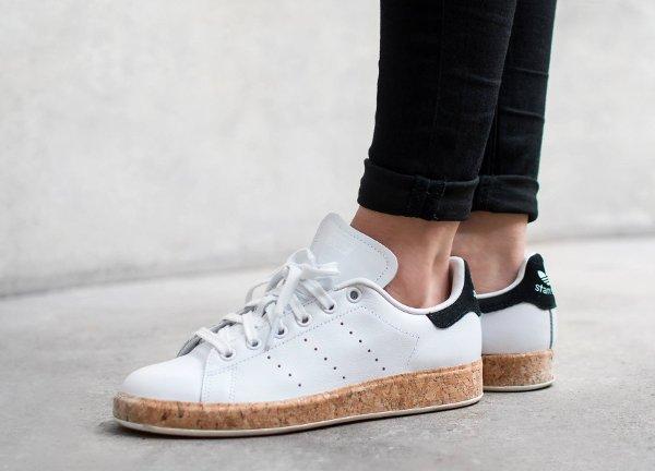 Adidas Stan Smith Luxe W White Black Cork