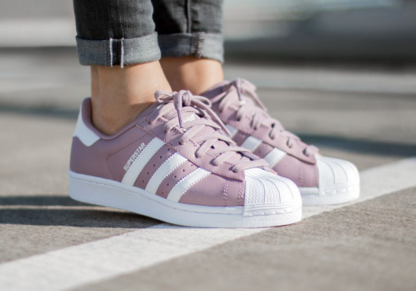 superstar adidas violette