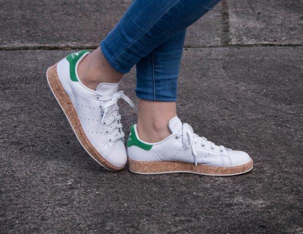 Adidas Stan Smith Luxe W OG Cork White Green (1)