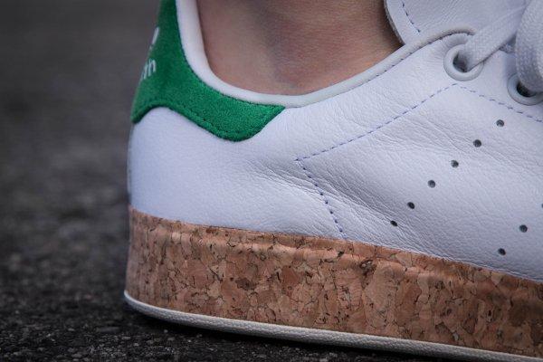 Adidas Stan Smith Luxe W OG Cork White Green (2)