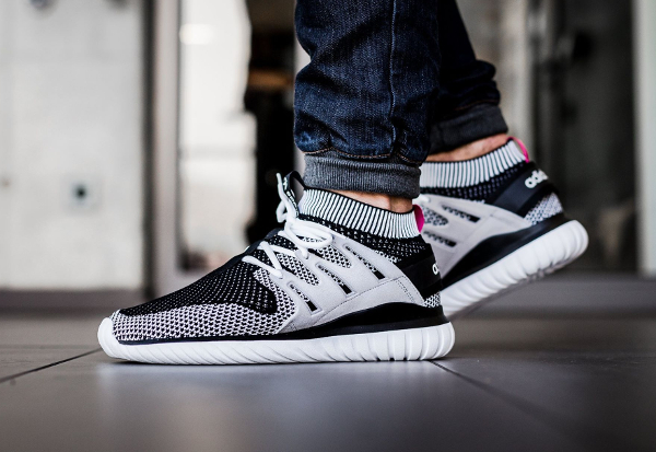 Adidas Tubular Primeknit Black And White